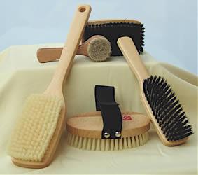 Bürsten für Körperpflege und Massage